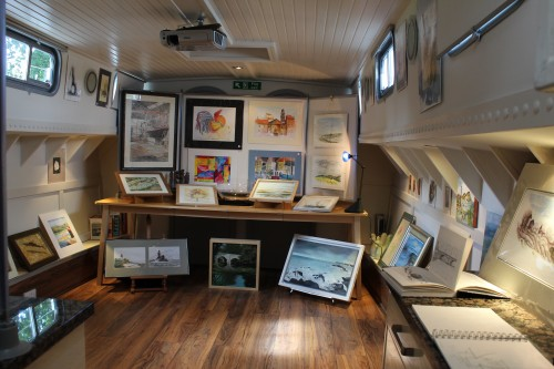 Art Afloat took part in Bucks Open Studios 2013